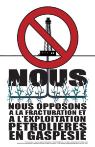 Nous nous opposons à la fracturation (2015)
