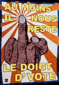 Le doigt de vote banner