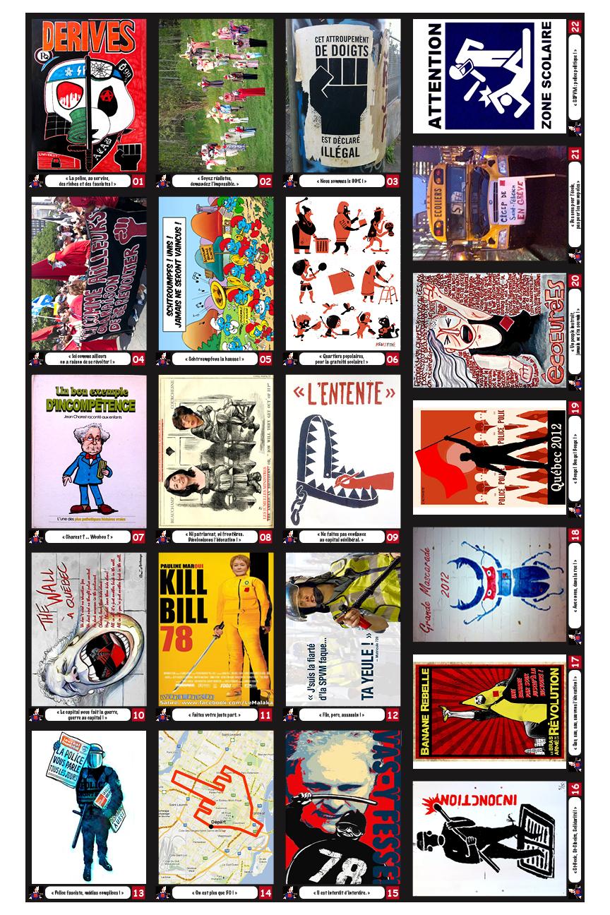 Cartes réaggrégation cards #1-22 (front/recto)