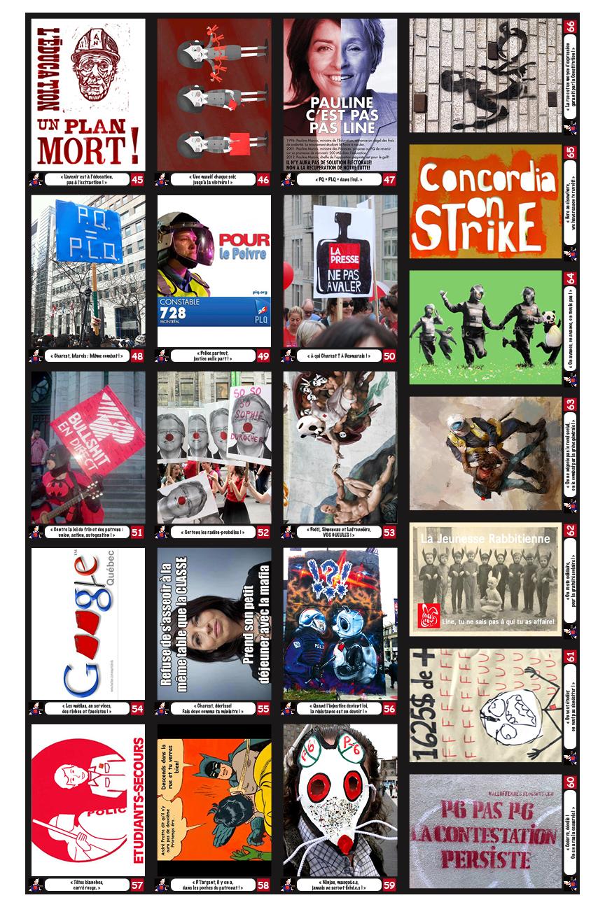 Cartes réaggrégation cards #45-66 (front/recto))